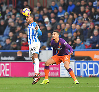 Huddersfield Town's Jason Puncheon beats Manchester City's Danilo too the ball<br /> <br /> Photographer Dave Howarth/CameraSport<br /> <br /> The Premier League - Huddersfield Town v Manchester City - Sunday 20th January 2019 - John Smith's Stadium - Huddersfield<br /> <br /> World Copyright © 2019 CameraSport. All rights reserved. 43 Linden Ave. Countesthorpe. Leicester. England. LE8 5PG - Tel: +44 (0) 116 277 4147 - admin@camerasport.com - www.camerasport.com