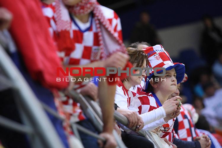 18.01.2012., Millennium Hall, Vrsac, Srbija - 10th men's european handball championship, group D, Slovenia - Croatia. Croatian supporters. <br /> <br /> Foto &copy;  nph / PIXSELL / Antonio Bronic