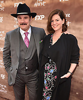 "LOS ANGELES, CA - APRIL 3: Paul F. Tompkins and Janie Haddad Tompkins attend the FYC Red Carpet event for the series finale of FX's ""You're the Worst"" at Regal Cinemas L.A. Live on April 3, 2019 in Los Angeles, California. (Photo by Frank Micelotta/FX/PictureGroup)"