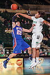 Texas Arlington Mavericks guard Laila Suleiman (22) and North Texas Mean Green forward Alexis Hyder (33) in action during the game between the Texas Arlington Mavericks and the North Texas Mean Green at the Super Pit arena in Denton, Texas. UTA defeats UNT 59 to 50...