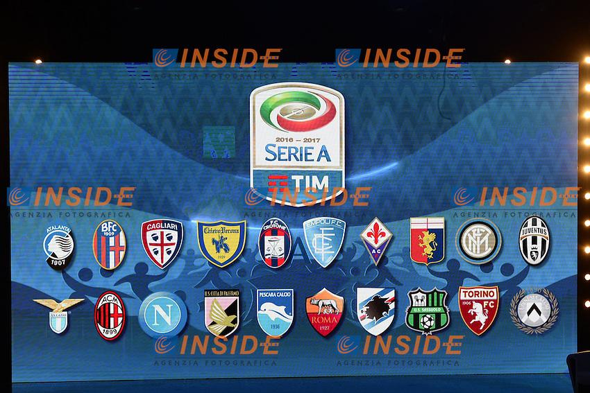 Milano 22-07-2016 - presentazione calendari serie A 2016-2017 / foto Daniele Buffa/Image Sport/Insidefoto<br /> nella foto: tabellone