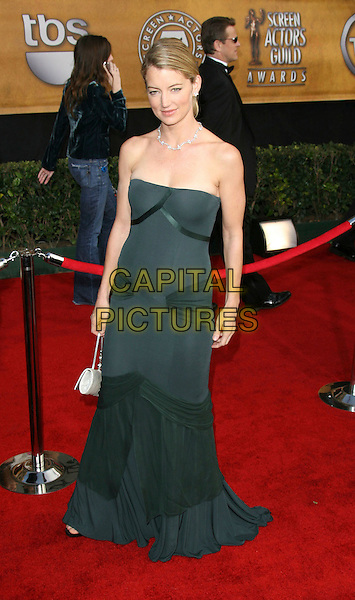 CYNTHIA WATROS.12th Annual Screen Actors Guild Awards (SAG) held at the Shrine Auditorium, Los Angeles, California, USA..January 29th, 2006.Photo: Zach Lipp/AdMedia/Capital Pictures.full length strapless dress green grey gray.www.capitalpictures.com.sales@capitalpictures.com.© Capital Pictures.