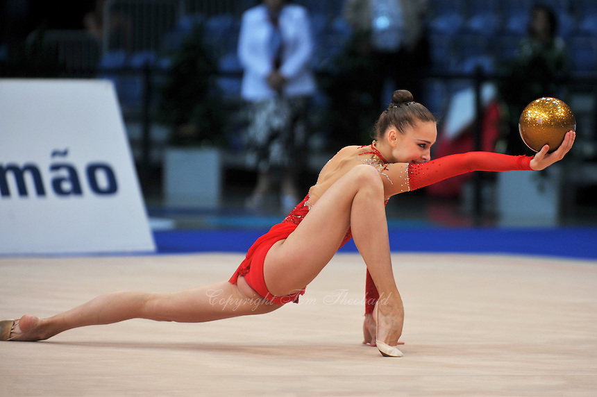 Viktoria Shynkarenko of Ukraine performs at 2011 World Cup at Portimao, Portugal on April 29, 2011.  .