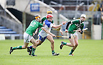XXjob 06/05/2015 SPORT<br /> Limerick Brian Ryan &amp; Waterford's Darragh Lyons  in Action during their 2015 Electric Ireland Munster GAA Hurling Minor Championship.<br /> Picture  Credit Brian Gavin Press 22