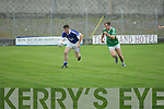 Cathal Kearney (Shannon Rangers) in action with Shane O'Connor (St Kieran's)  in the Acorn Life under 21 County Football Championship Semi Final at Austin Stack Park, Tralee on Wednesday evening.