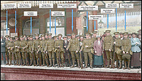 Last train - Poignant Great War station picture is colourised.