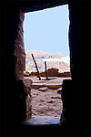 The view of Perfect Kiva, and beyond. Taken from inside a nearby dwelling, I was careful not to let any part of myself or my equipment touch the edges of the doorway.