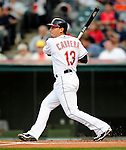 4 September 2009: Cleveland Indians' shortstop Asdrubal Cabrera in action against the Minnesota Twins at Progressive Field in Cleveland, Ohio. The Indians defeated the Twins 5-2 to take the first game of their three-game weekend series. Mandatory Credit: Ed Wolfstein Photo