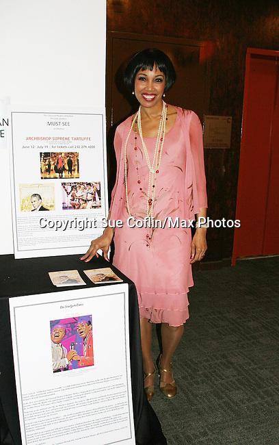 Kim Brockington in costume - The Classical Theatre of Harlem, Inc presents Archbishop Supreme Tartuffe starring Kim Brockington (GL) on July 12, 2009 at the Clurman Theatre in Theatre Row, New York City, New York. (Photo by Sue Coflin/Max Photos)