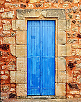 A colorful doorway in Roussillon