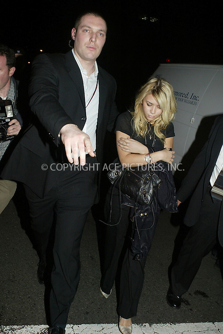 WWW.ACEPIXS.COM ** ** ** ....Ashley Olsen exits Babyphat Fall 2005, NYC, February 5 2005....Please byline: Philip Vaughan -- ACE PICTURES... *** ***  ..Ace Pictures, Inc:  ..Philip Vaughan (646) 769-0430..e-mail: info@acepixs.com..web: http://www.acepixs.com