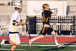 San Diego, CA 05/29/10 - Erik Myers (Torrey Pines # 14) in action during the La Costa Canyon vs Torrey Pines boys lacrosse game for the 2010 San Diego Section CIF Championship, hosted at Del Norte High School.  La Costa Canyon defeated Torrey Pines 12-6.