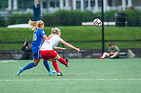 Boston, MA - Friday July 07, 2017: Rosie White and Julie Ertz during a regular season National Women's Soccer League (NWSL) match between the Boston Breakers and the Chicago Red Stars at Jordan Field.