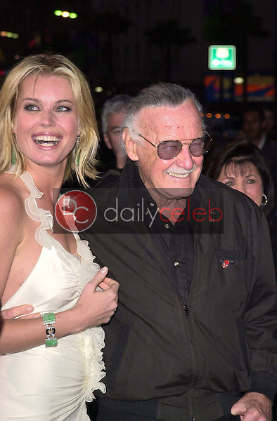 Rebecca Romijn-Stamos and Stan Lee
