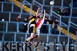 Johnny Buckley Dr Crokes in action against Donnacha Ó hUigín West Kerry in the Kerry Senior Football Championship Semi Final at Fitzgerald Stadium on Saturday.