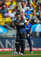 Brendon McCullum in action during the ICC Cricket World Cup one day pool match between the New Zealand Black Caps and England at Wellington Regional Stadium, Wellington, New Zealand on Friday, 20 February 2015. Photo: Dave Lintott / lintottphoto.co.nz