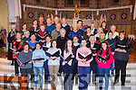 Castleisland Choir who are rehearsing for their concert in aid of Glebe Lodge in St Stephen and John church Castleisland on Monday 21st December