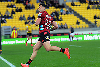 Crusaders' David Havili scores during the Super Rugby Aotearoa match between the Hurricanes and Crusaders at Sky Stadium in Wellington, New Zealand on Saturday, 21 June 2020. Photo: Dave Lintott / lintottphoto.co.nz
