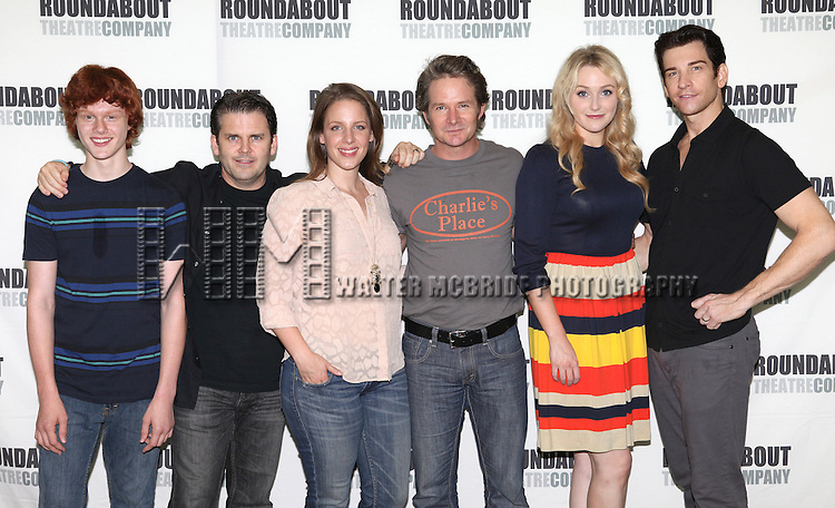 Nicholas Barasch, Robert Creighton, Jessie Mueller, Peter Benson, Betsy Wolfe and Andy Karl  attend the Photo Call for the cast of Roundabout Theatre Company's 'The Mystery of Edwin Drood' in their New York City rehearsal hall. 10/2/2012