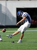 Armwood Hawks kicker Nick Feely #10 kicks off after a touchdown during the first quarter of the Florida High School Athletic Association 6A Championship Game at Florida's Citrus Bowl on December 17, 2011 in Orlando, Florida.  Feely is the younger brother of Arizona Cardinals kicker Jay Feely.  The score at halftime is Armwood 16 - Miami Central 14.  (Photo By Mike Janes Photography)