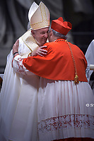 New Cardinal, Italian prelate Matteo Maria Zuppi, during an Ordinary Public Consistory for the creation of new cardinals on October 5, 2019 in the Vatican. Pope Francis appoints 13 new cardinals at the 2019 Ordinary Public Consistory, choosing prelates whose lifelong careers reflect their commitment to serve the marginalized and local church communities, hailing from 11 different nations and representing multiple religious orders.