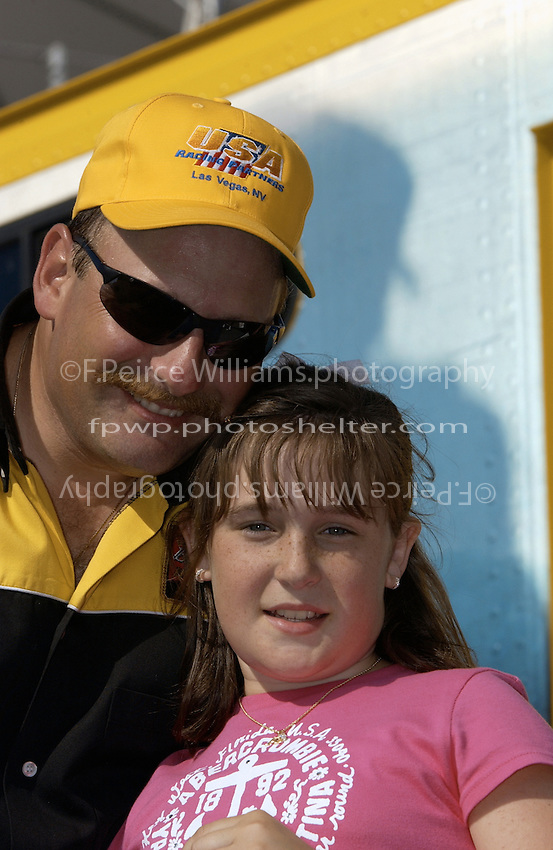 """Mike Weber a future hydroplane racer, daughter Alexis, U-10 """"Miss DYC"""""""