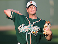 April 17, 2008: RHP Colby Miller (40) of the Greensboro Grasshoppers, Class A affiliate of the Florida Marlins, in a game against the Greenville Drive at Fluor Field at the West End in Greenville, S.C. Photo by:  Tom Priddy/Four Seam Images