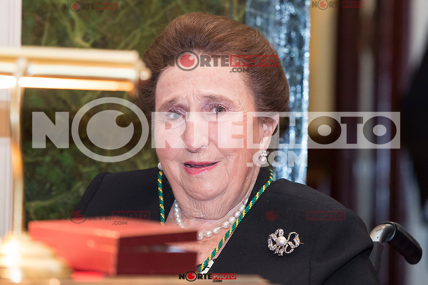 Princess Margarita attends to deliver to his Highness the Princess Margarita of the gold medal of the Royal National Academy of Medicine in Madrid, May 08, 2017. Spain.<br /> (ALTERPHOTOS/BorjaB.Hojas)