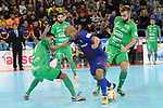 League LNFS 2017/2018 - Game 10.<br /> FC Barcelona Lassa vs CA Osasuna Magna: 3-3.<br /> Bynho, Ferrao &amp; Victor.