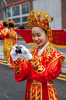 Chinese Girls Drill Team, Chinese New Year 2016, Chinatown, Seattle, WA, USA.