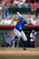 St. Lucie Mets third baseman Jhoan Urena (24) at bat during a game against the Florida Fire Frogs on July 23, 2017 at Osceola County Stadium in Kissimmee, Florida.  St. Lucie defeated Florida 3-2.  (Mike Janes/Four Seam Images)