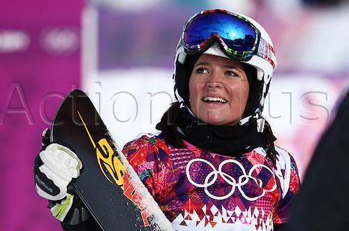 19.02.2014. Sochi, Russia.  Rosa Khutor   Sochi Winter Olympic Wiomens Giant Parallel Slalom Snowboarding.  Stefanie Mueller (SUI)