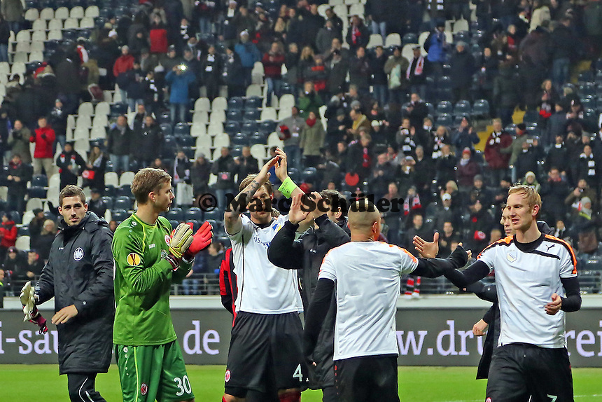 Siegesjubel Eintracht - Eintracht Frankfurt vs. APOEL Nikosia, Commerzbank Arena, Europa League Gruppenphase