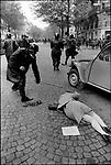 The 1968 May Events, boulevard Saint Germain, Paris, France, May 6, 1968