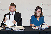 MADRID, SPAIN-February 07: King Felipe VI of Spain, Queen Letizia of Spain at a Meeting of the Board of Trustees of the Teatro Real Foundation at the Royal Theater on February 7, 2019 in Madrid, Spain. h ***NO SPAIN***<br /> CAP/MPI/RJO<br /> ©RJO/MPI/Capital Pictures