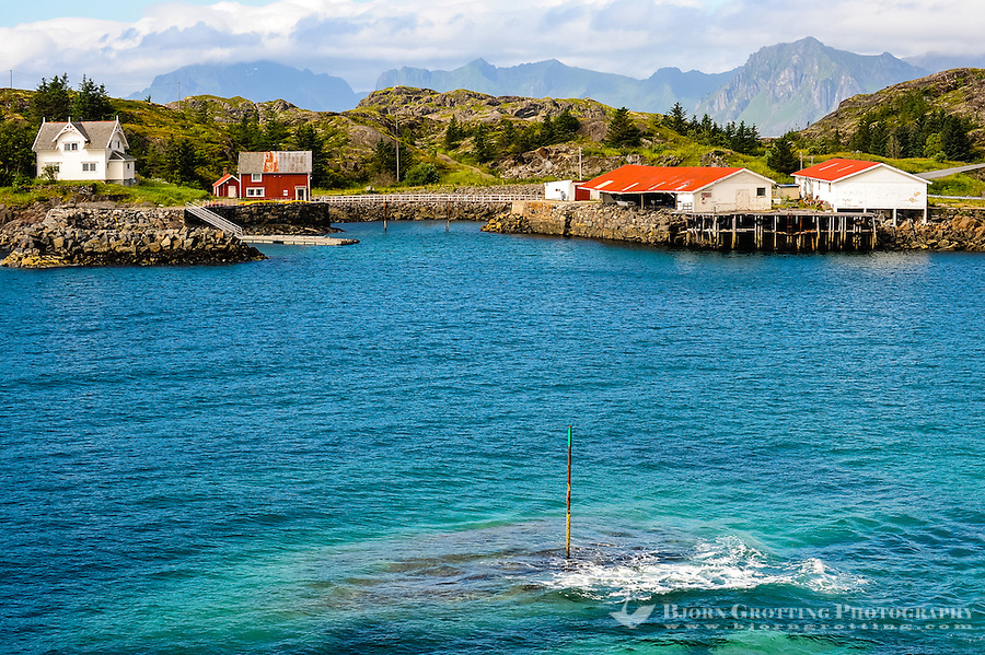 Norway, Lofoten. Coastal landscape just outside Henningsvær fishing village.