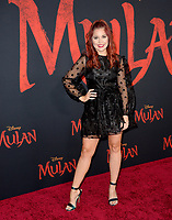 """LOS ANGELES, CA: 09, 2020: Erin Robinson at the world premiere of Disney's """"Mulan"""" at the El Capitan Theatre.<br /> Picture: Paul Smith/Featureflash"""