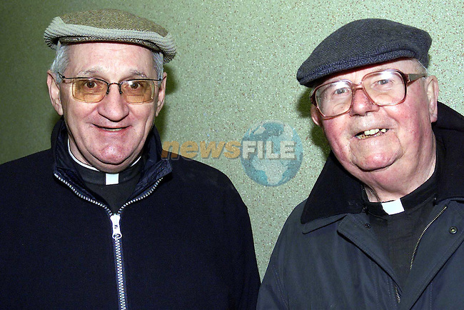 Michael Hickey with Fr. Kevin McArdle at his retirement party..Picture: Paul Mohan/Newsfile