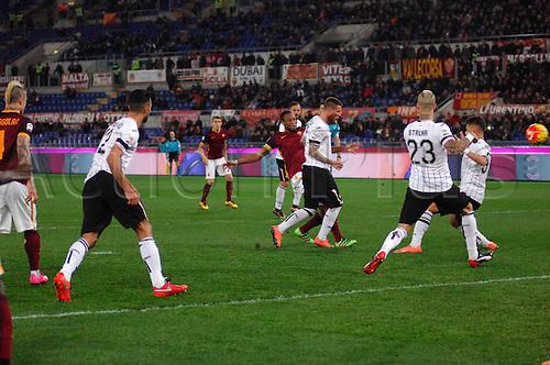 21.02.2016. Stadium Olimpico, Rome, Italy.  Serie A football league. AS Roma versus Palermo. KEITA SEYDOU scores for 2-0