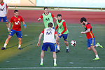 Spain's Cesar Azpilicueta, Ander Herrera, Nacho Monreal, Nacho Fernandez and Isco Alarcon during training session. March 20,2017.(ALTERPHOTOS/Acero)