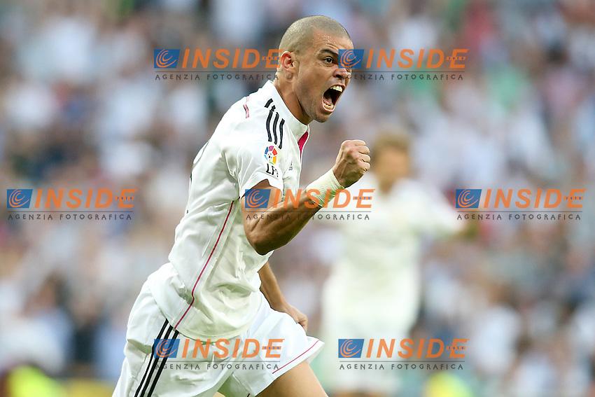 Real Madrid's Pepe celebrates goal during La Liga match.October 25,2014. (ALTERPHOTOS/Acero) <br /> Clasico<br /> Foto Insidefoto