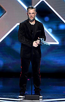 "LOS ANGELES - DECEMBER 6: Cory Barlog accepts the Best Game Direction award for ""God of War"" (Sony Santa Monica / SIE) at the 2018 Game Awards at the Microsoft Theater on December 6, 2018 in Los Angeles, California. (Photo by Frank Micelotta/PictureGroup)"