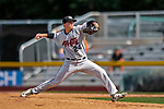 3 September 2018: Tri-City ValleyCats pitcher Jacob Billingsley on the mound against the Vermont Lake Monsters at Centennial Field in Burlington, Vermont. The Lake Monsters defeated the ValleyCats 9-6 in the last game of the 2018 NY Penn League regular season. Mandatory Credit: Ed Wolfstein Photo *** RAW (NEF) Image File Available ***