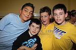 Isaac bona Ben Sheridan Ryan Walsh Aaron Sheridan.at the junior disco in Clogherhead community hall..Picture: Fran Caffrey/www.newsfile.ie.