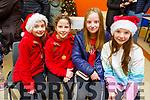 Aisling Tansley, Ava Rice, Aoife Moynihan and Ava Duggan at the Gaeil Scoil Mhic Easmainn Food fair in the school on Sunday