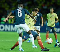 ARMENIA – COLOMBIA, 19-01-2020:Colombia y Ecuador en partido de la fecha 2, grupo A, del CONMEBOL Preolímpico Colombia 2020 jugado en el estadio Centenario de Armenia, Colombia. / Colombia and Ecuador in match of the date 2, group A, for the CONMEBOL Pre-Olympic Tournament Colombia 2020 played at Centenario stadium in Armenia, Colombia. Photos: VizzorImage / Julian Medina / Cont