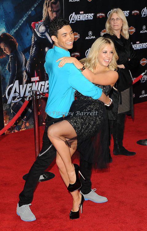 Roshon Fegan and Chelsie Hightower at the premiere of Marvel's The Avengers, held at El Capitan Theatre in Hollywood,  CA. April 11, 2012