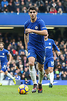 Alvaro Morata of Chelsea during the Premier League match between Chelsea and Newcastle United at Stamford Bridge, London, England on 2 December 2017. Photo by David Horn.