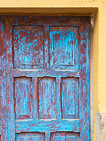 An old door in Ollantaytambo, Peru.