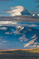 Clouds cap mt Brooks of the Alaska Range in Denali National Park, Alaska.